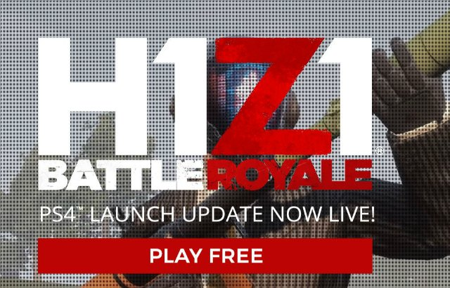 H1Z1 Battle Royale Now Available On PS4 For Free